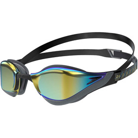 speedo Fastskin Pure Focus Mirror Schwimmbrille black/cool grey/blue/gold